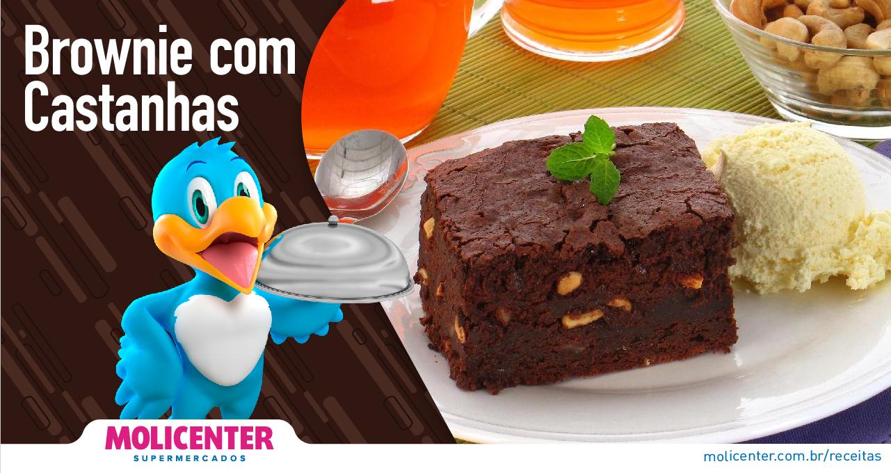 Brownie com Castanhas