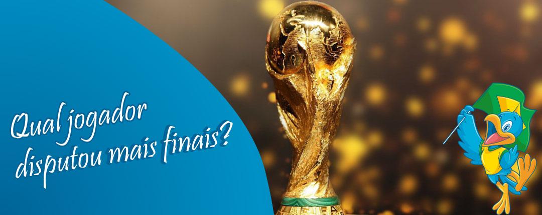 Qual jogador disputou mais finais em Copas do Mundo?