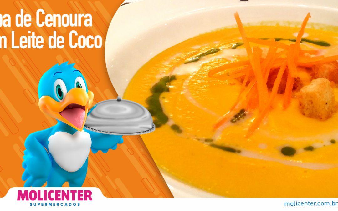 Sopa de Cenoura com Leite de Coco